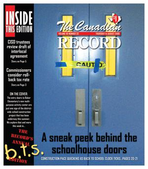 Primary view of object titled 'The Canadian Record (Canadian, Tex.), Vol. 118, No. 33, Ed. 1 Thursday, August 14, 2008'.