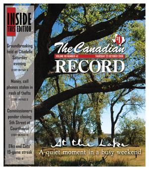 Primary view of object titled 'The Canadian Record (Canadian, Tex.), Vol. 118, No. 43, Ed. 1 Thursday, October 23, 2008'.