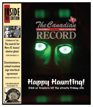 Primary view of object titled 'The Canadian Record (Canadian, Tex.), Vol. 118, No. 44, Ed. 1 Thursday, October 30, 2008'.