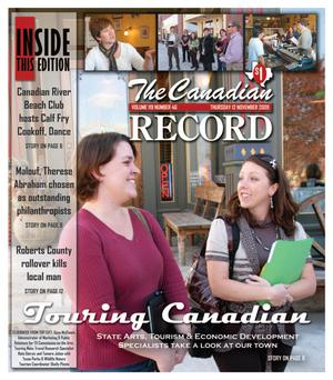 Primary view of object titled 'The Canadian Record (Canadian, Tex.), Vol. 119, No. 46, Ed. 1 Thursday, November 12, 2009'.