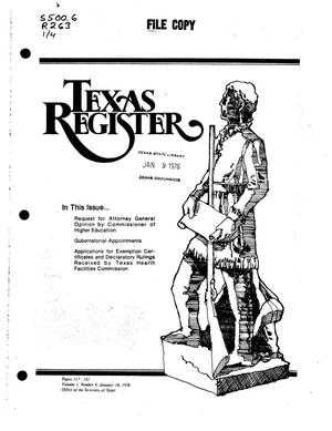 Texas Register, Volume 1, Number 4, Pages 117-142, January 16, 1976