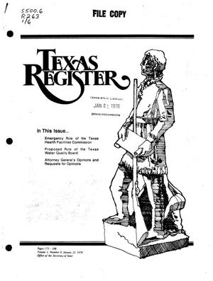 Primary view of object titled 'Texas Register, Volume 1, Number 6, Pages 173-187, January 23, 1976'.