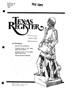 Primary view of object titled 'Texas Register, Volume 1, Number 8, Pages 239-268, January 30, 1976'.