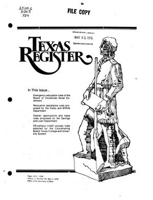 Primary view of object titled 'Texas Register, Volume 1, Number 36, Pages 1213-1236, May 7, 1976'.