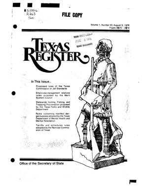 Primary view of object titled 'Texas Register, Volume 1, Number 60, Pages 2129-2174, August 3, 1976'.