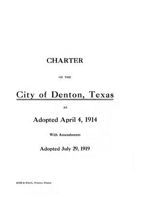 Primary view of object titled 'Charter of the City of Denton, Texas'.
