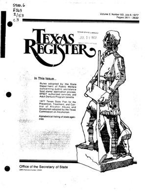 Primary view of object titled 'Texas Register, Volume 2, Number 53, Pages 2611-2632, July 8, 1977'.