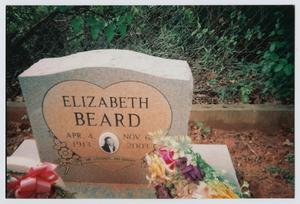 Primary view of object titled '[Headstone of Elizabeth Beard]'.