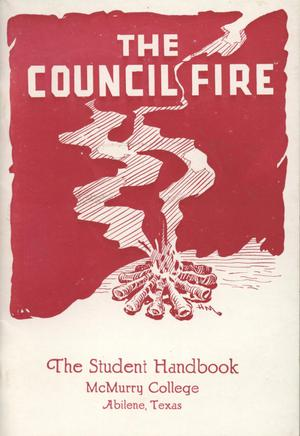 Council Fire, Handbook of McMurry College, [1951]