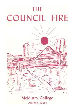 Primary view of object titled 'Council Fire, Handbook of McMurry College, [1962]'.