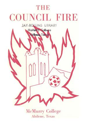 Primary view of object titled 'Council Fire, Handbook of McMurry College, [1964]'.