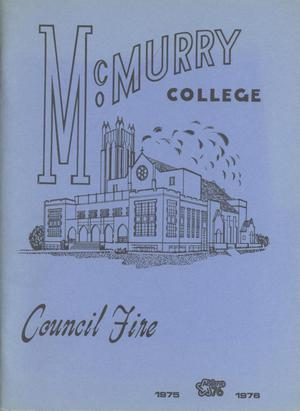 Council Fire, Handbook of McMurry College, 1975-1976