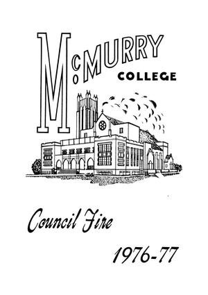 Primary view of object titled 'Council Fire, Handbook of McMurry College, 1976-77'.