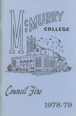 Primary view of object titled 'Council Fire, Handbook of McMurry College, 1978-79'.