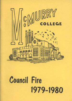 Primary view of object titled 'Council Fire, Handbook of McMurry College, 1979-1980'.