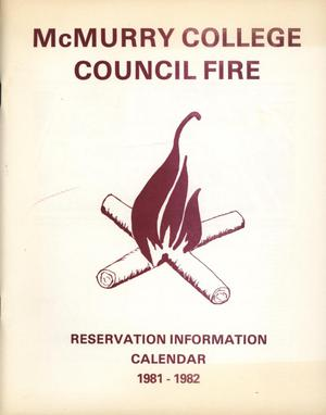 Primary view of object titled 'Council Fire, Handbook of McMurry College, 1981-1982'.