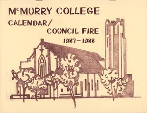 Primary view of object titled 'Council Fire, Handbook of McMurry College, 1987-1988'.