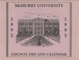 Primary view of object titled 'Council Fire, Handbook of McMurry University, 1992-1993'.