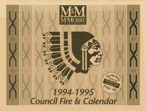 Primary view of object titled 'Council Fire, Handbook of McMurry University, 1994-1995'.