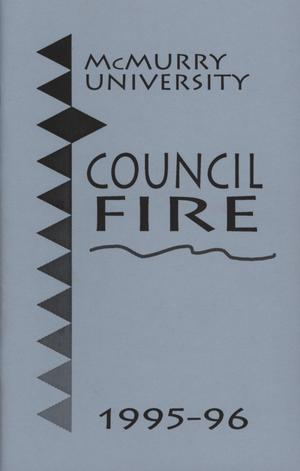 Primary view of object titled 'Council Fire, Handbook of McMurry University, 1995-96'.