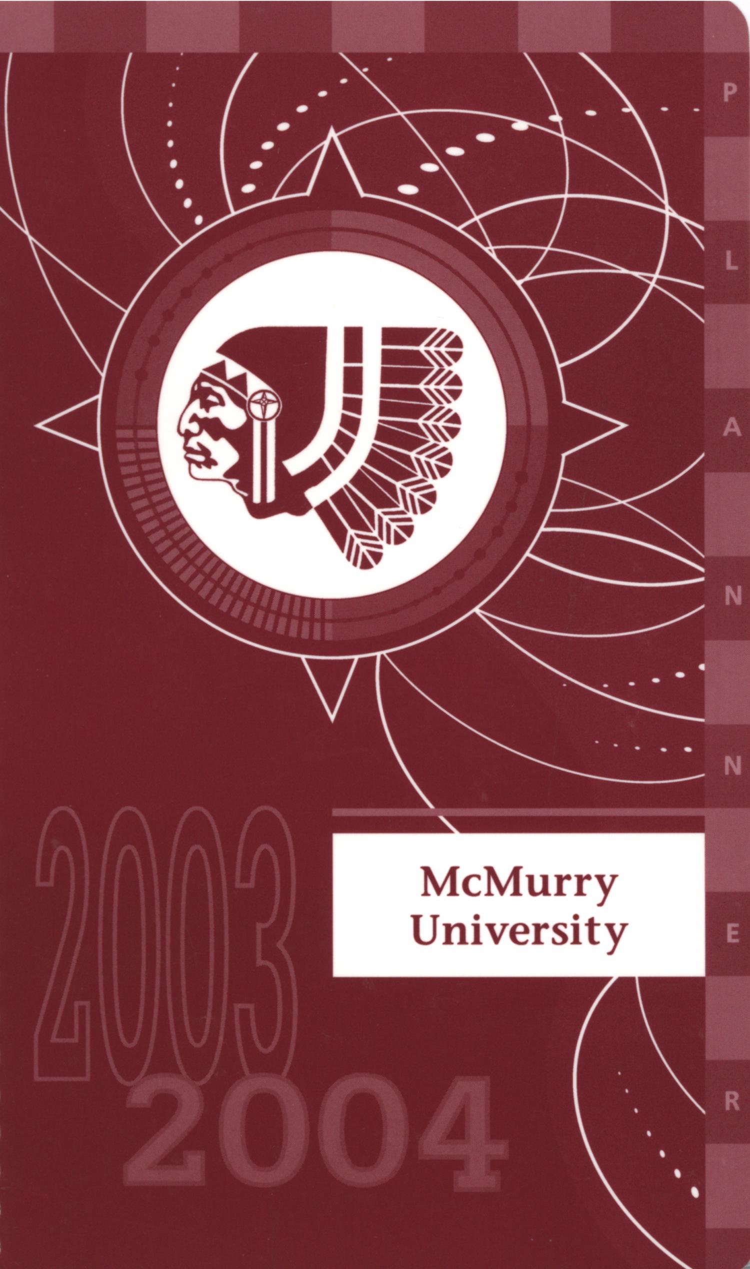 Council Fire, Handbook of McMurry University, 2003-2004                                                                                                      Front Cover