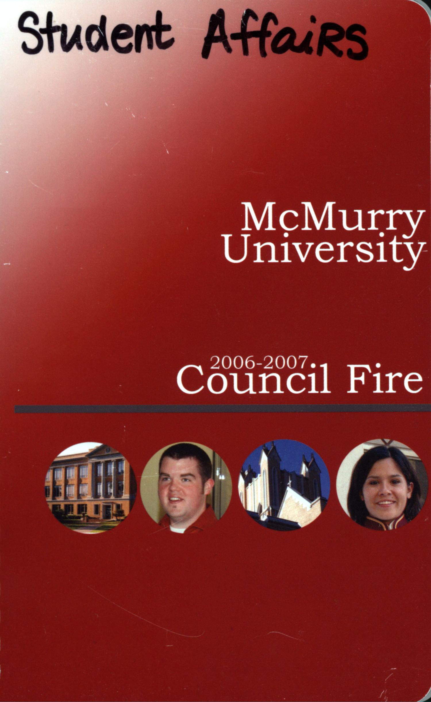 Council Fire, Handbook of McMurry University, 2006-2007                                                                                                      Front Cover