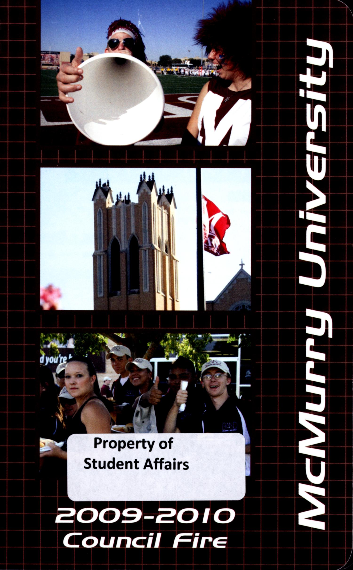 Council Fire, Handbook of McMurry University, 2009-2010                                                                                                      Front Cover