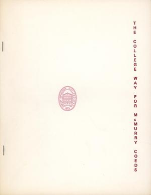 Primary view of object titled 'Council Fire, Handbook of McMurry College, [1960~]'.