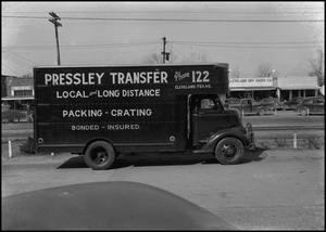 Primary view of object titled '[Pressley Transfer Truck]'.