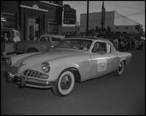 Primary view of object titled '[Santa Parade in Downtown Cleveland, Texas]'.