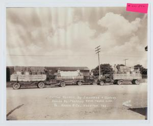 Primary view of object titled '[Pressley Brothers Transfer Trucks]'.