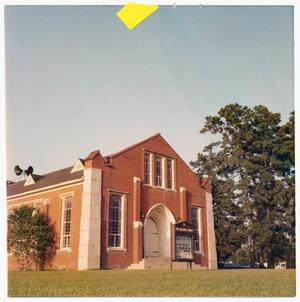 Primary view of object titled '[First United Methodist Church in Cleveland, Texas]'.