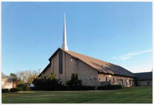 Primary view of object titled '[Photo of Calvary Baptist Church in Cleveland, Texas]'.