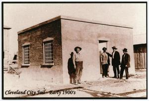 Primary view of object titled '[Postcard of the City Jail in Cleveland, Texas]'.