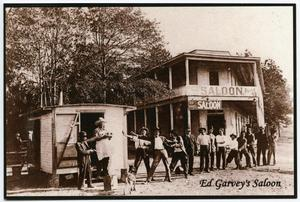 [Postcard of the Ed Garvey Saloon in Cleveland, Texas]