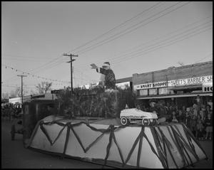 Primary view of object titled '[Santa Float in Parade]'.