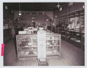 Primary view of object titled '[Interior of Fostoria Commissary]'.