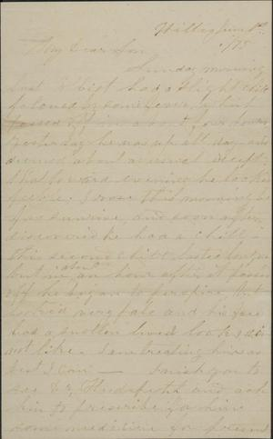 Primary view of object titled 'Letter to Cromwell Anson Jones, 1 June 1875'.