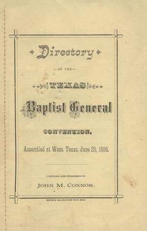 Directory of the Texas Baptist General Convention, 1886
