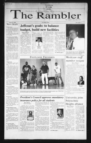 The Rambler (Fort Worth, Tex.), Vol. 84, No. 1, Ed. 1 Wednesday, August 30, 2000