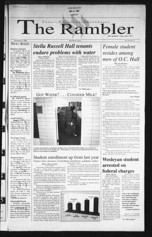 Primary view of object titled 'The Rambler (Fort Worth, Tex.), Vol. 84, No. 2, Ed. 1 Wednesday, September 6, 2000'.