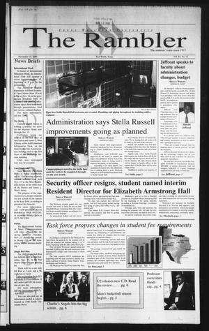 The Rambler (Fort Worth, Tex.), Vol. 84, No. 12, Ed. 1 Wednesday, November 15, 2000