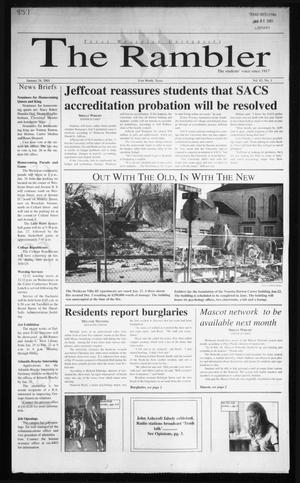 Primary view of object titled 'The Rambler (Fort Worth, Tex.), Vol. 85, No. 1, Ed. 1 Wednesday, January 24, 2001'.