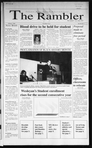The Rambler (Fort Worth, Tex.), Vol. 85, No. 3, Ed. 1 Wednesday, February 7, 2001