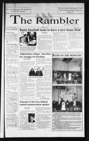 The Rambler (Fort Worth, Tex.), Vol. 86, No. 12, Ed. 1 Thursday, November 29, 2001