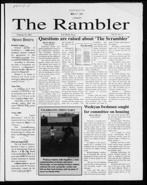 Primary view of object titled 'The Rambler (Fort Worth, Tex.), Vol. 87, No. 5, Ed. 1 Thursday, February 28, 2002'.