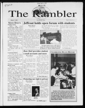 Primary view of object titled 'The Rambler (Fort Worth, Tex.), Vol. 87, No. 6, Ed. 1 Thursday, March 7, 2002'.