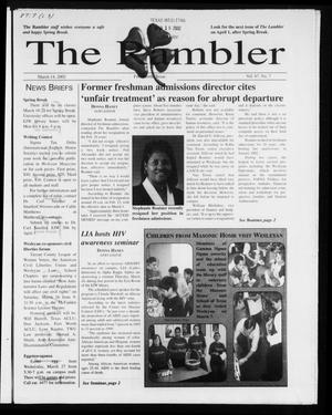The Rambler (Fort Worth, Tex.), Vol. 87, No. 7, Ed. 1 Thursday, March 14, 2002
