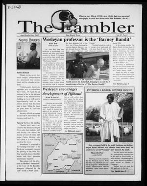 Primary view of object titled 'The Rambler (Fort Worth, Tex.), Vol. 87, No. 8, Ed. 1 Monday, April 1, 2002'.