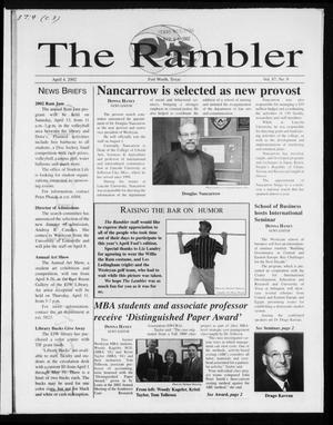 Primary view of object titled 'The Rambler (Fort Worth, Tex.), Vol. 87, No. 9, Ed. 1 Thursday, April 4, 2002'.
